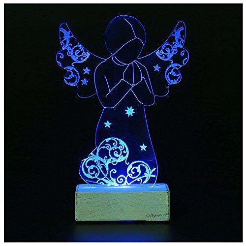 Giftgarden® Angelo con Led da Tavolo Preghiera Angeli Decorazione