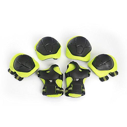 Lixada Schutzpolster Set Brace Kinder Roller Skating Skateboard Ellenbogen Knie Hände Handgelenk Sicherheit Schutz Set 6 PCS