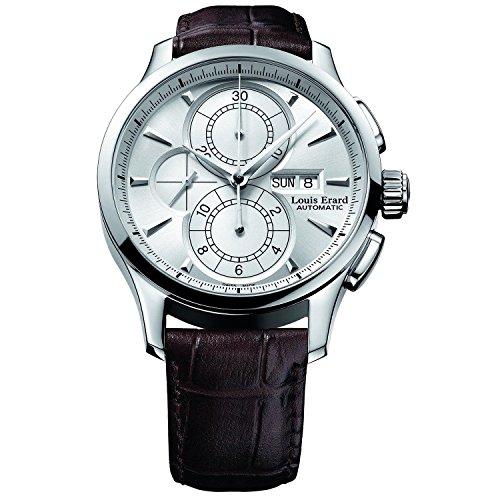 Louis Erard 1931del hombre 44mm Banda de cuero marrón reloj automático 78220AA01. BDC52