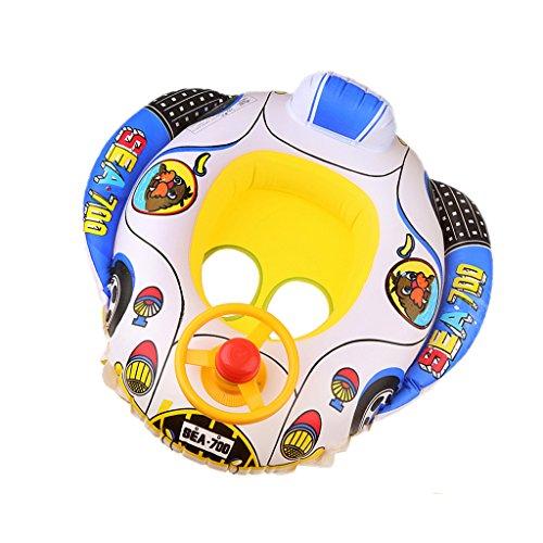MagiDeal Aufblasbare Baby Schwimmboot Schwimmsitz Schwimmreifen Ring Sicherheit & Bequem Sommer Spielzeug für Pool Wasser Baby Outdoor Wasserspaß - Auto