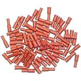 Cosses électriques femelles rondes ROUGES de 4 - Sachet de 75