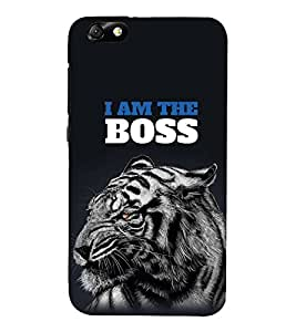FUSON The Boss Tiger 3D Hard Polycarbonate Designer Back Case Cover for Huawei Honor 4X :: Huawei Glory Play 4X