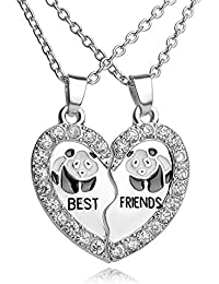 TBOP NECKLACE THE BEST OF PLANET Simple And Stylish Jewelry Best Friends Girlfriend Sets Of Chain Friend Panda...