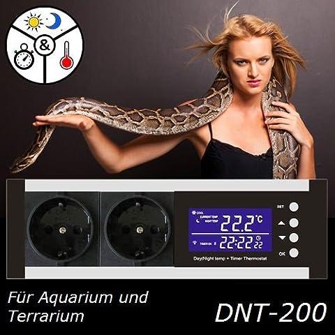 Digital thermostat thermorégulateur contrôleur reptile terrarium TX2-FBA