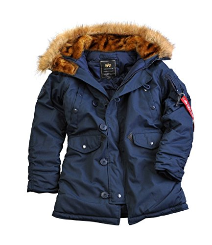 Alpha Industries Damen Parkas Explorer Wmn Blue