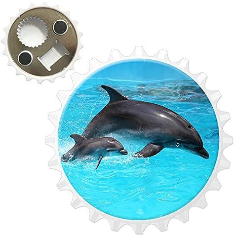 Mum & Baby Dolphin Bottle Opener Fridge Magnet