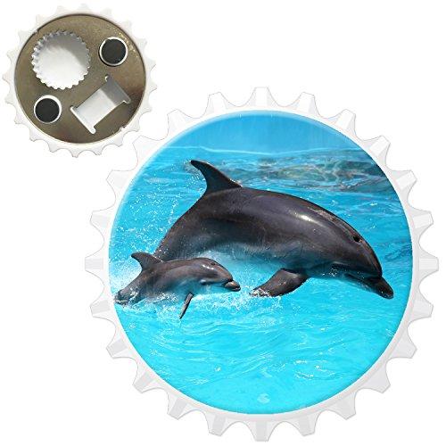 Delfini apribottiglie magnete per frigorifero, Mum & Baby Dolphin, Bottle Opener