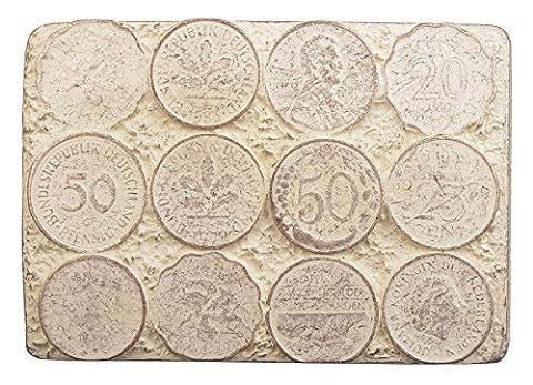 Münzen Gürtelschnalle Buckle Münze Pfennig Geld : Münzen -- Grösse ca: 7,7 x 5,4 cm -- für Gürtelbreite: 40 mm