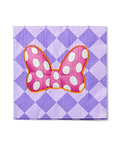 Minnie Mouse Bowtique Lunch Napkins, Pack of 16, Party Supplies