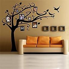 Kayra Decor Plastic Family Wish Tree Reusable Wall Stencil in (Multicolour 63x70-inch)