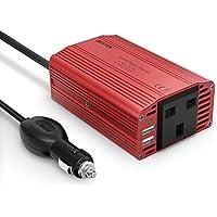 BESTEK 300W Power Inverter DC 12V to AC 230V 240V Transformer Car Charger Lighter Adapter with 3 Pin Plug and Dual USB Ports