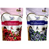 Delight Nuts Berries Combo Pack - Dried Cranberries 200gm & Dried Blueberries 150gm