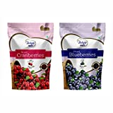 #2: Delight Nuts Berries Combo Pack - Dried Cranberries 200gm & Dried Blueberries 150gm