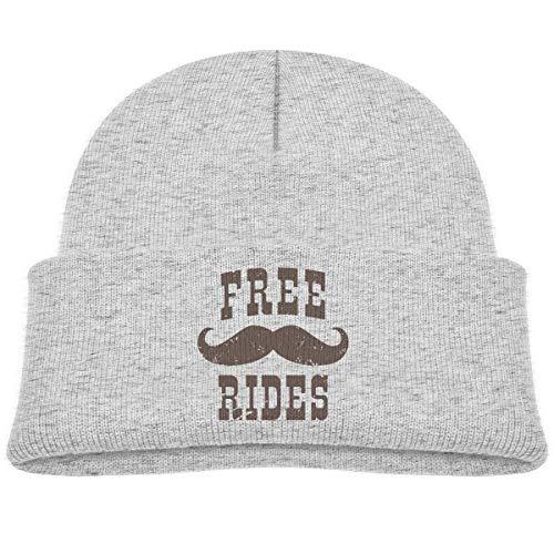 ADGoods Kids Children Free Mustache Rides Beanie Hat Knitted Beanie Knit Beanie for Boys Girls Kinderbaseballmütze Ride Beanie Boys