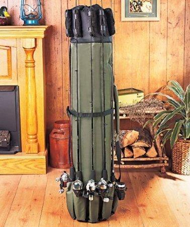 Angeltasche 123*34cm Tasche,Allround Rutentasche – Angelkoffer – Rutentasche - Tasche für Angelruten – Tarnfarbe