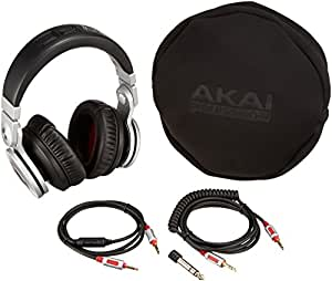 Akai MPC Black,Red,Silver Circumaural Head-band headphone - Headphones (Circumaural, Head-band, Wired, 12-24000 Hz, 2.1 m, Black, Red, Silver)