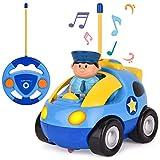 ROOYA BABY Voiture télécommandée Voiture de Dessin animé RC Véhicules Musique Commande Facile Télécommande Jouet Voiture Voitures Enfants 3 Ans et Plus