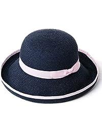 CFHJN Home Sombrero de Paja para el Verano Damas Plegables en el Sol  Protección Solar Sombrero para el Sol Sombrero de Playa (Color … ffb23e0a1070