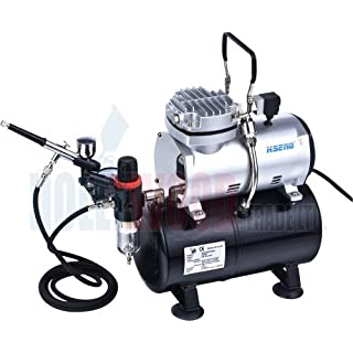 Mini Airbrush Compressor With Tank AS186 Kit 1