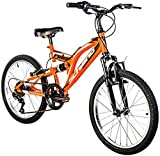 F.lli Schiano Rider Full Suspension Shimano Vélo Homme, Orange/Blanc, Taille 20'