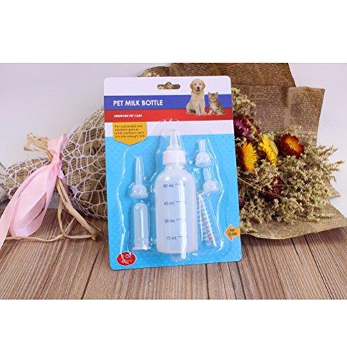 UEETEK 60ML Pet Nurser Bottle Kit Dog Cat Nursing Ensemble de bouteilles pour chatons Chiots Petits animaux