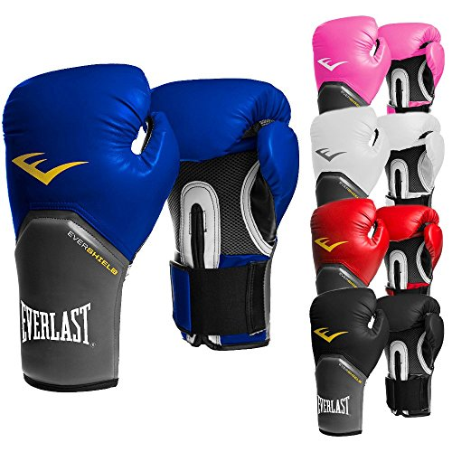 Everlast Boxhandschuhe Elite Pro Style schwarz rot blau weiss pink 8 10 12 14 16 Oz (schwarz, 12 Oz) (Pro-mesh-boxer)