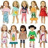 ZITA ELEMENT 10 Sets Vêtements de Poupée pour 35cm 36cm 37cm Vêtements de Poupée et 14,5 Pouces American Girl Vêtements Mode Nouveauté...