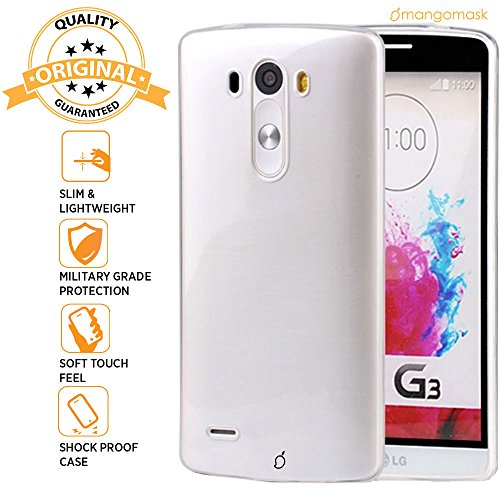 Mangomask LG G3 Back Case Cover Crystal Series Clear Transparent TPU Case  available at amazon for Rs.99