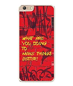 PrintVisa Questioning Saying High Gloss Designer Back Case Cover for Micromax Canvas Knight 2 E471