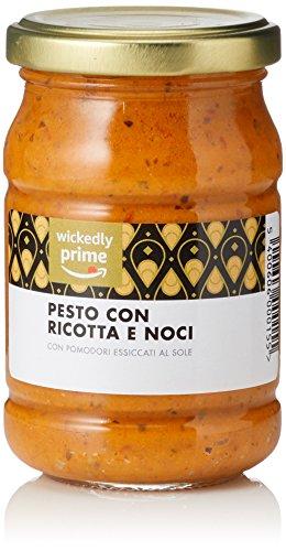 Amazon Marke - Wickedly Prime- Pesto mit Ricotta und Walnüssen (6x190g)