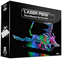 Build up to 57 lightup airplanes, sharks, boats, trucks, animals and space shuttles with the Laser Pegs Dragon kit Just snap any Laser Pegs shape into one of the female points to light up the LED. As you build, each piece feeds the next shape through...
