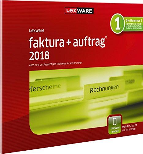 Lexware faktura+auftrag 2018 | basis-Version | in frustfreier Verpackung (Jahreslizenz) | Kompatibel mit Windows 7 oder aktueller | Einfache Auftrags- und Rechnungs-Software für alle Branchen