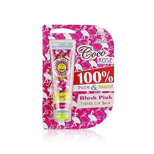 Figs & Rouge 100% Pure & Natural Tinted Lip Balm Coco Rose, getöntes Lipgloss Kokos Rose 12.5 ml