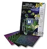 folia 305 - Holographische Folie 23 x 33 cm, 4 Blatt, farbig sortiert, selbstklebend