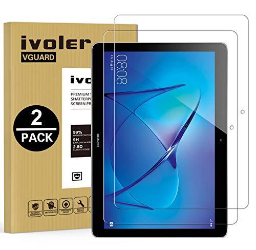 vetro temperato tablet iVoler [2 Pack] Pellicola Vetro Temperato per Huawei Mediapad T3 10