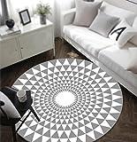 DGF Runde Teppich, geometrische Teppich, Schlafzimmer Wohnzimmer Computer Stuhl Sofa Couchtisch rutschfeste Teppich (Durchmesser: 80cm / 100cm / 120cm / 160cm) ( größe : Diameter 80cm )