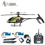 efaso WLtoys V9124canali 2,4GHz single Blade elicottero Gyro Fotocamera con preparazione Giallo/Verde Con Batteria supplementare