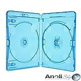 Amaray Blu Ray Hüllen 15 mm Doppel für 2 Disc 6 Stück Neuware