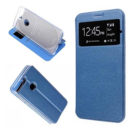 MISEMIYA Schutzhülle Huawei Y7Prime 2018/Huawei Y7Pro 2018/Huawei Honor 7C/Huawei Nova 2Lite/Huawei Y72018–Tasche Nur, Cover Magnet Sport Halterung, Blau (Tasche 2 Piel)