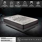 Komfortland Colchón 150x200 viscoelástico Memory Platinum de Altura 27cm, 9cm de ViscoProgression Grafeno de Alta Densidad (85kg/m3)