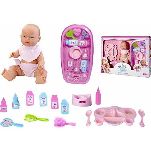 Rosa Toys-Tu Tu bebé con bañera y comiditas, (49901152)