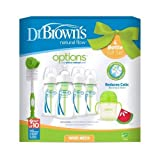 Dr. Brown's OPTIONS Natural Flow - Set de regalo exclusivo (Color: Verde)