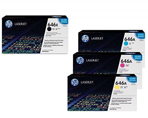HEWLETT-PACKARD - HEWLETT PACKARD HP ORIGINAL 646A / 646X TONER CONJUNTO DE 4 DE GRAN CAPACIDAD NEGRO  CIAN  MAGENTA  AMARILLO
