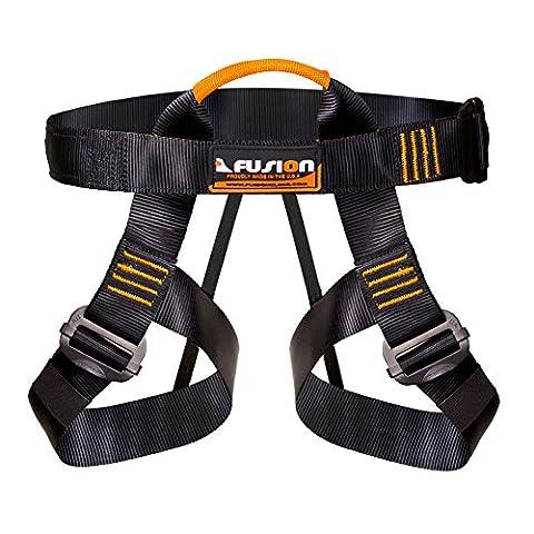 Fusion Grimpez Centaur Half Body Harness Noir M-XL avec sangle élastique pour l'escalade Cours Gym & Rope
