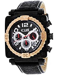 Equipe eque308 Watch for Men, Leather Strap Black