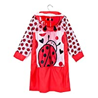 Cystyle Raincoats for Children Kids, Waterproof Kids Funny Raincoat Children Cartoon Rain Coat Suit Rain Coat 3-10Years with Backpack Space