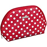 Audacity Red and White Polka Dot Cosmetic Make-up Toiletry Wash Bag for women and girls