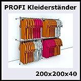 200x200x40 PROFI KLEIDERSTÄNDER WANDSTÄNDER BEKLEIDUNGSSTÄNDER GARDEROBE-P200