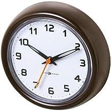 InterDesign Forma - Reloj con ventosas para cuarto de baño o cubículo de ducha, bronce