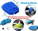 #8: Cleaning Tool - Double Sided Microfiber Super Mitt Hand Glove Duster for Car/Office/Home (2 pc) | Microfiber Gloves | Microfiber Super Mitt | Home Improvement | gloves for bathroom cleaning | microfiber hand gloves | Microfiber hand gloves for cleaning | gloves for cleaning | reusable gloves | hand gloves for bathroom washing |